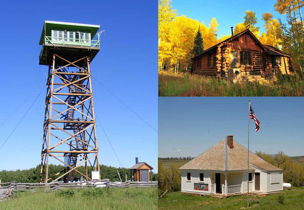 JERSEY JIM FIRE LOOKOUT TOWER AND ASPEN GUARD STATION AND GLADE HOUSE